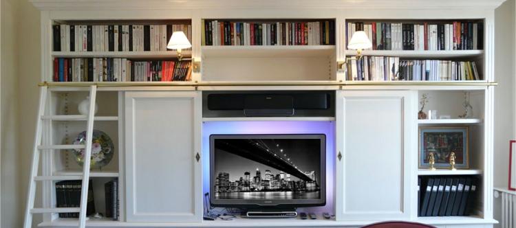 étagères de meubles design lumières led