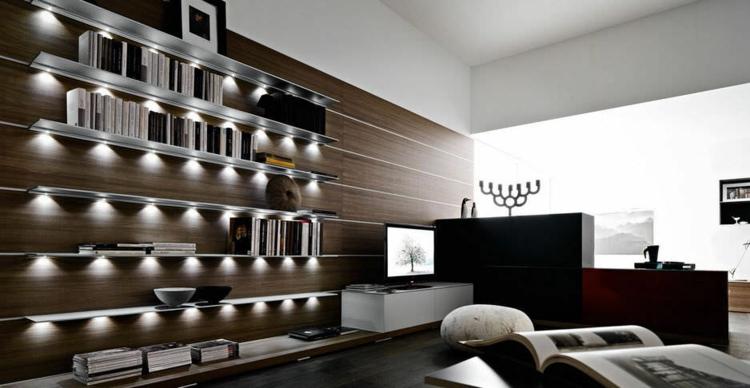étagères de salon design moderne