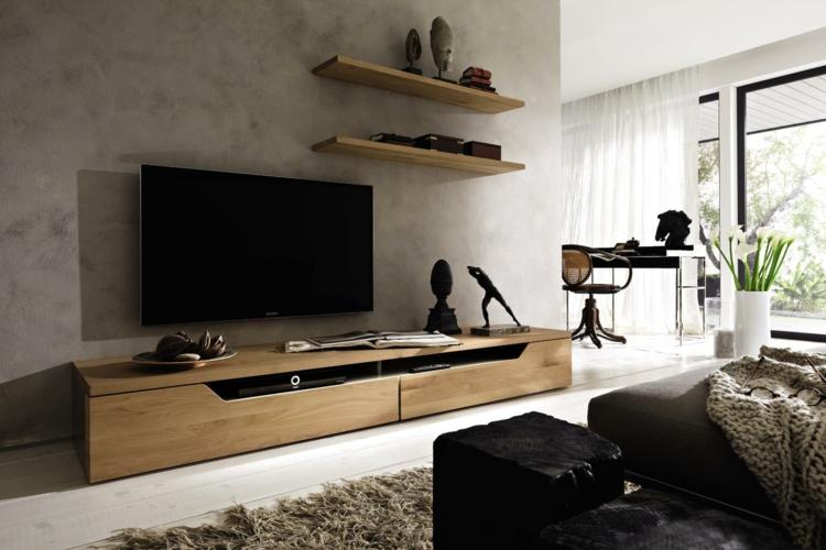 décoration de meubles tv étagères en bois