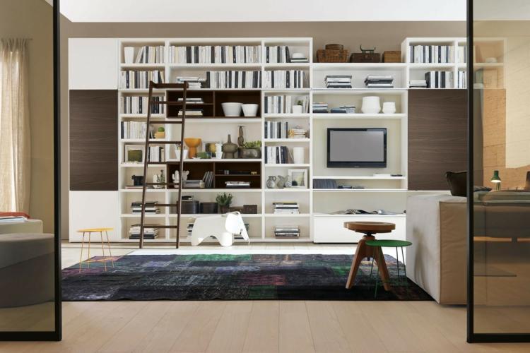 meuble tv étagères modulaires blanches
