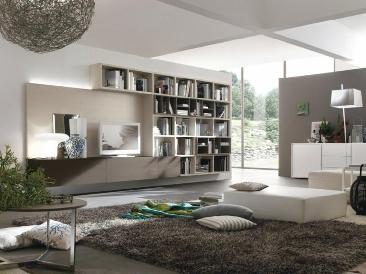 étagères modulaires meuble tv moderne