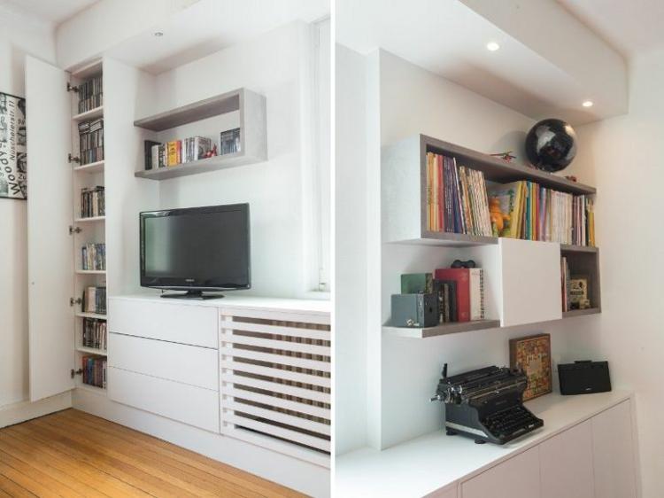 étagères encastrées meuble tv