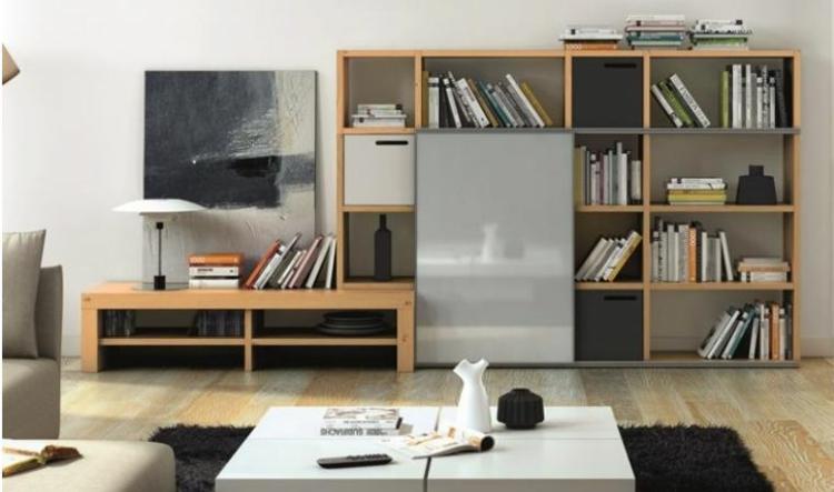 mobilier de bibliothèque de salon moderne