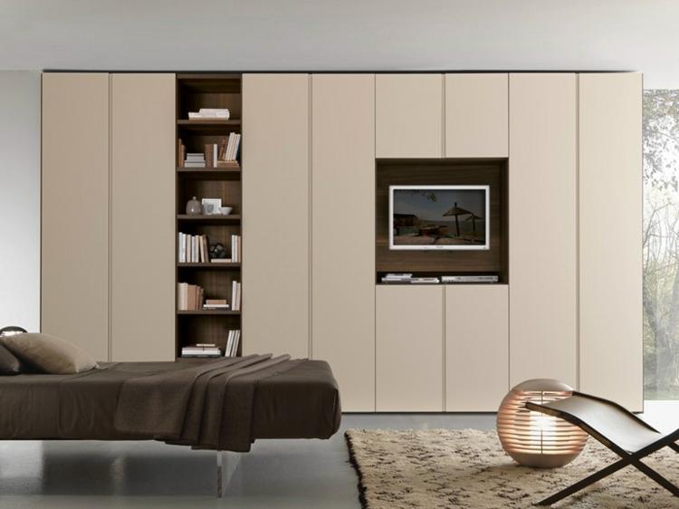 portes de salon intégrées d'armoire de bibliothèque