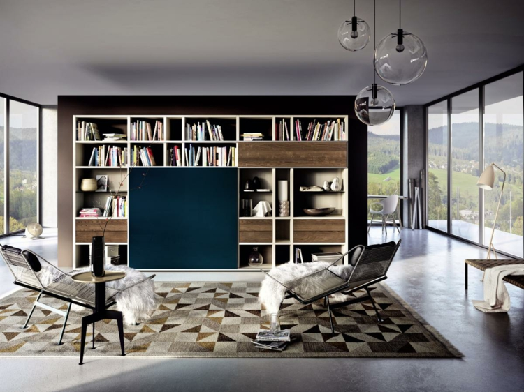 grand meuble TV étagères
