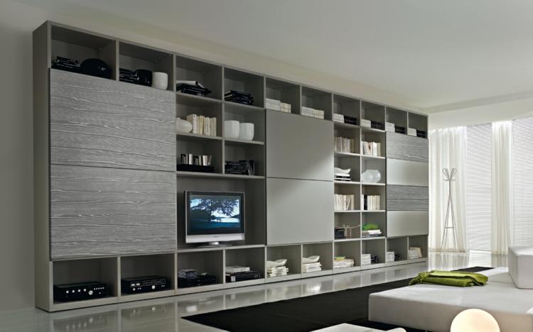 meubles de salon modulaires gris