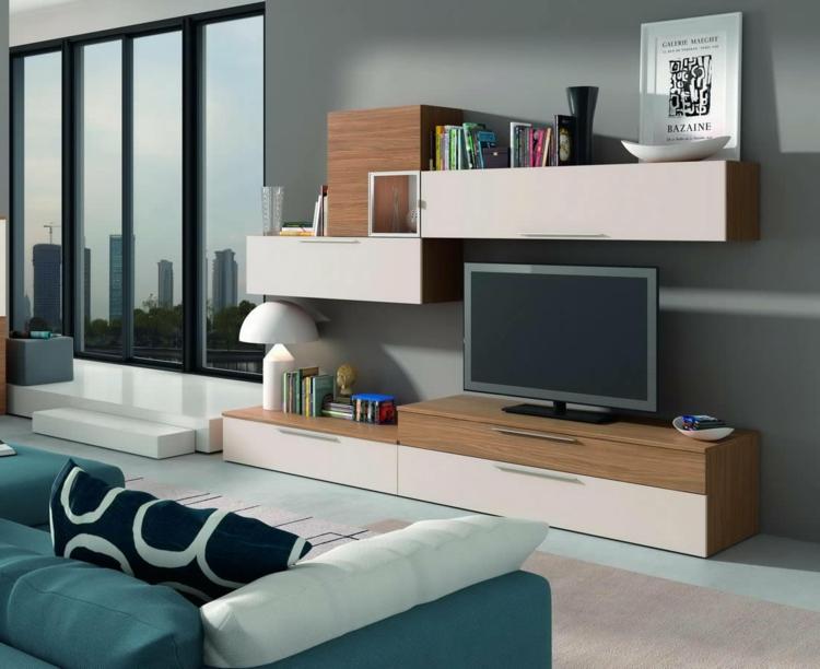 meubles de télévision en bois vierges