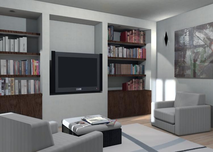 armoires tv encastrées murales