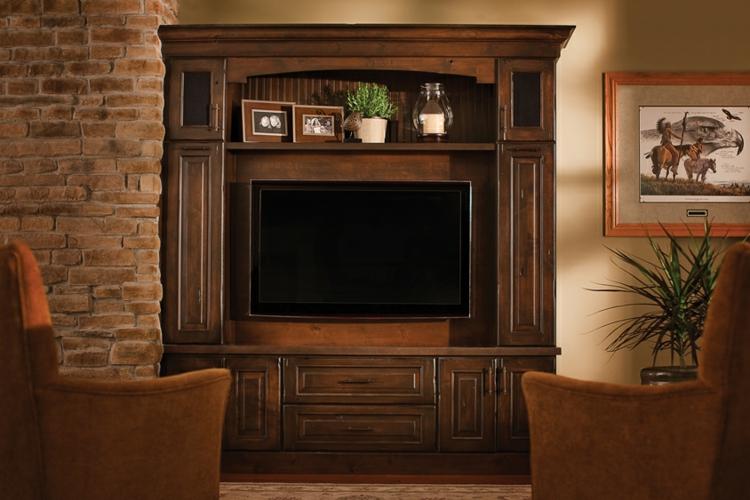 salon meuble tv bois bois