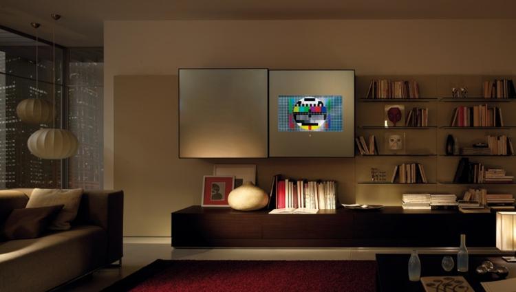 meuble tv bibliothèque design original