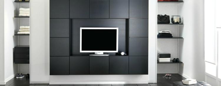 salon meubles modernes étagères modernes