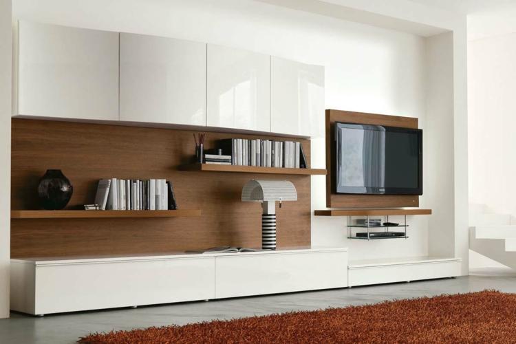 étagères modulaires intégrées modernes de salon