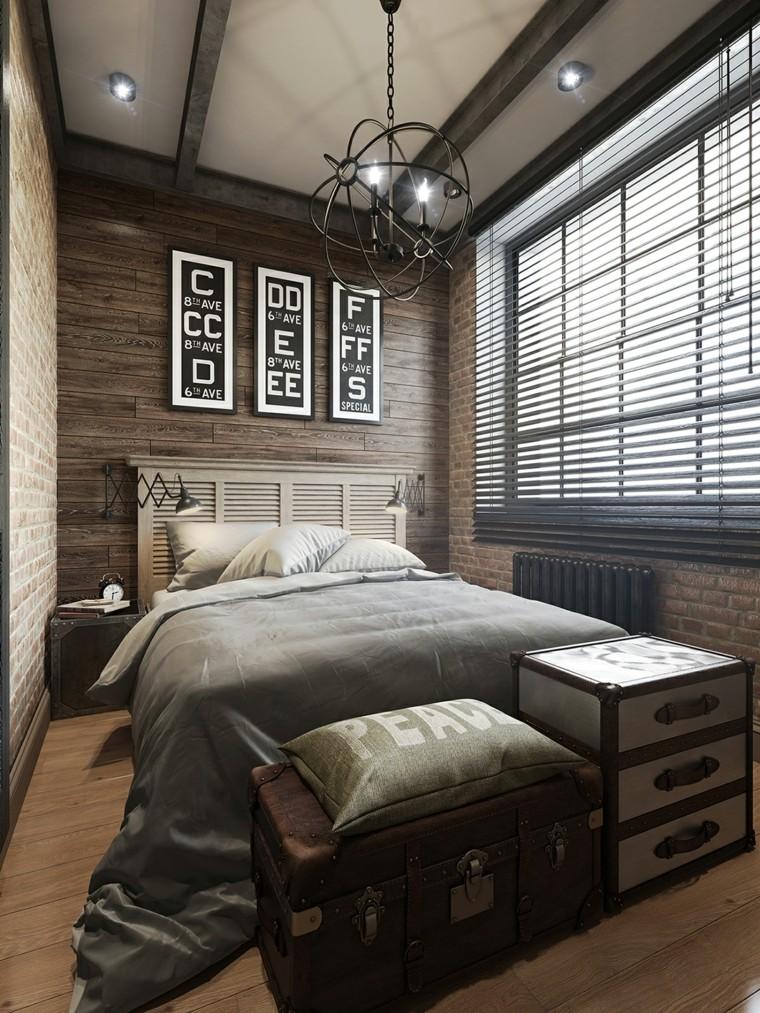 parquet petite chambre mur brique bois idées
