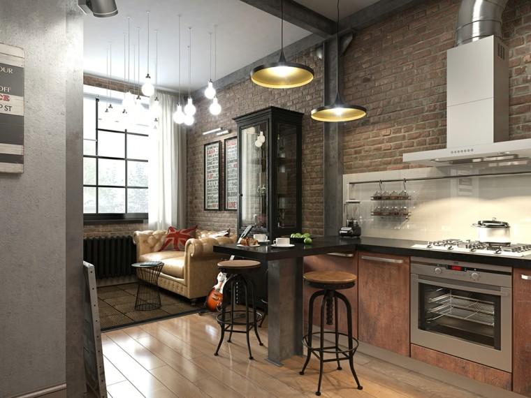 planchers desvan lampes originales petit canapé en cuir idées