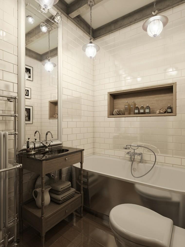 murs de salle de bain carreaux blancs grandes idées de miroir