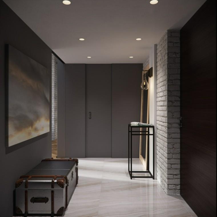 planchers sol mur de granit idées de briques blanches