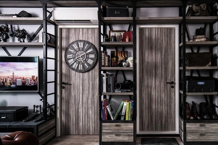 Idées de conception moderne de plancher de porte suspendue d'horloge