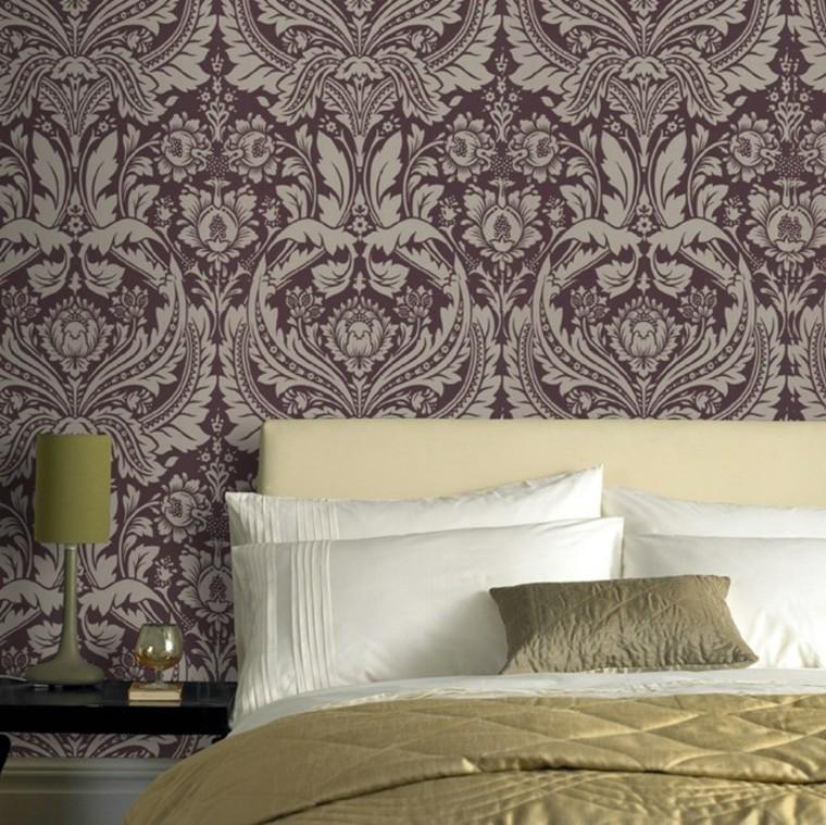 papier peint baroque chambre grand lit idées