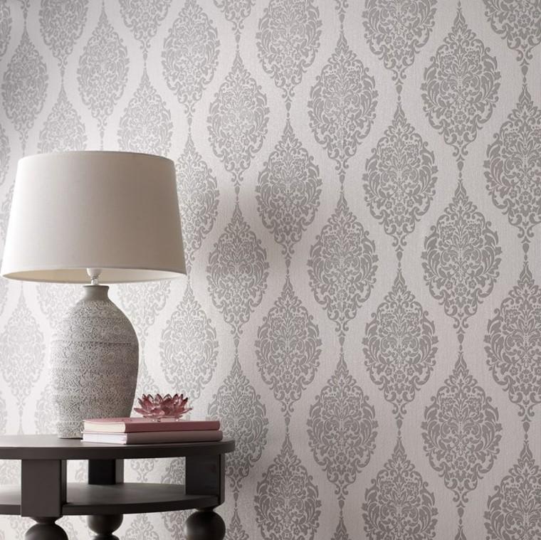 idées de papier peint de lampe de salon moderne