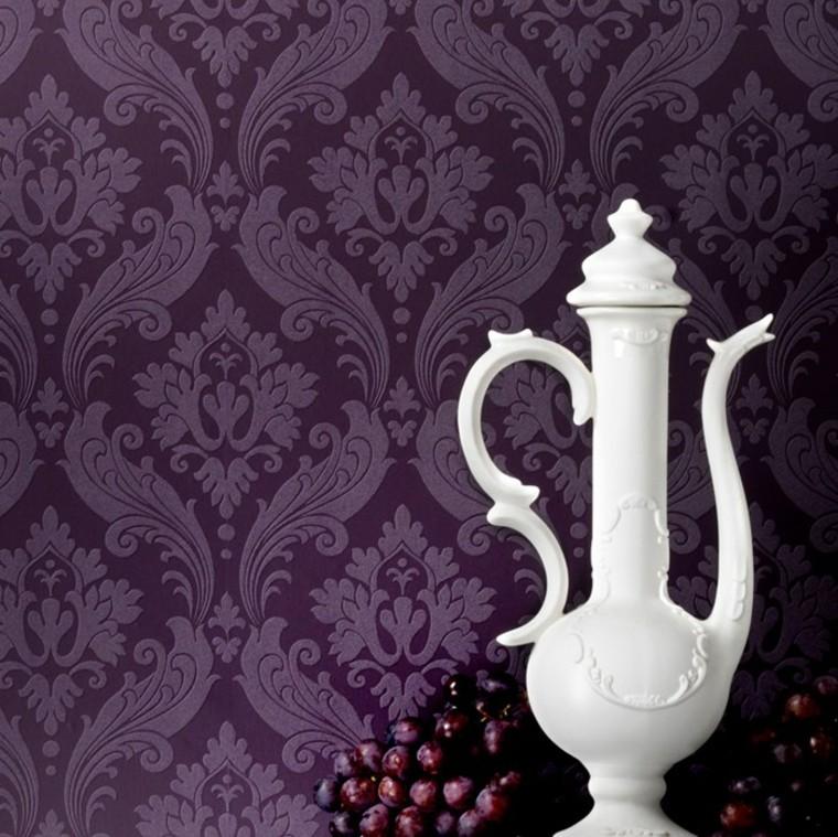 idées de papier peint violet foncé moderne