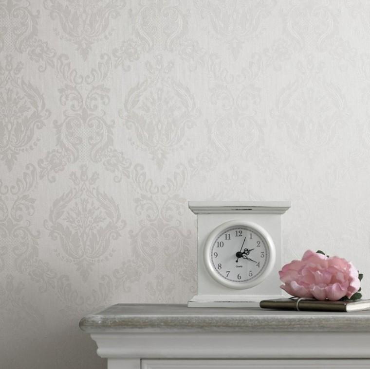 papier peint blanc idées d'horloge élégantes