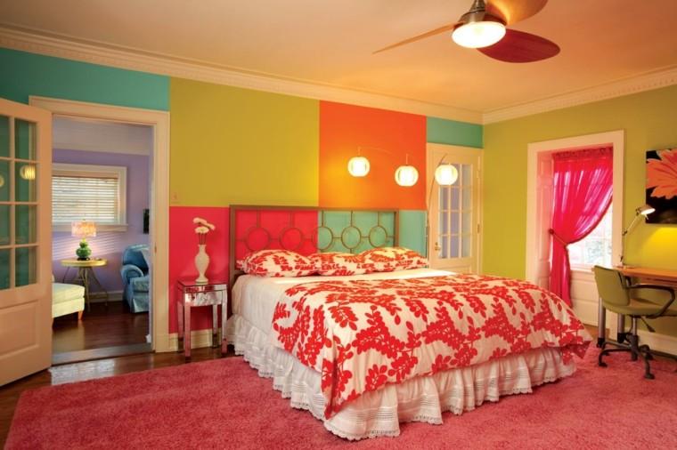 murs de chambre couleurs vives idées originales modernes
