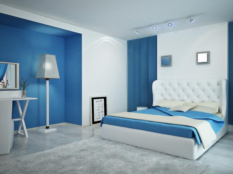 combinaisons de couleurs blanc bleu idées de chambre moderne