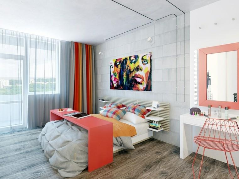 combinaisons de couleurs de chambre à coucher modernes