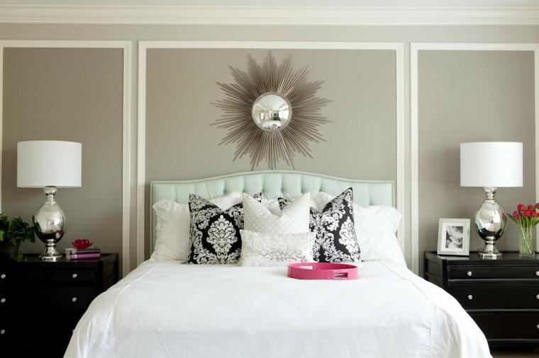 combinaisons de couleurs gris blanc idées de chambre chic
