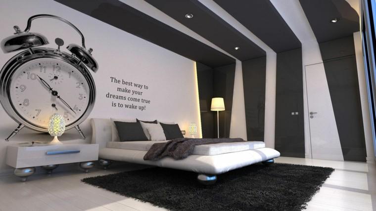 combinaisons de couleurs idées d'intérieur noir blanc moderne