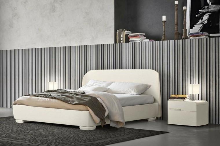 combinaisons de couleurs gamme de rayures grises idées de chambre