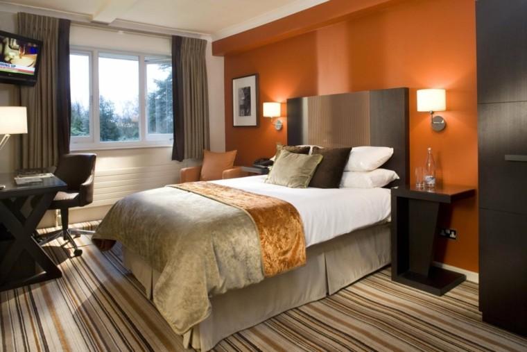 combinaison de couleurs mur chambre à coucher idées de style moderne