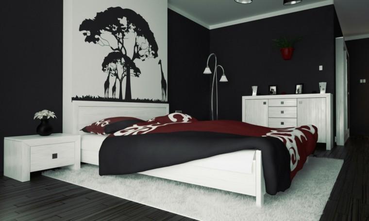 combinaison de couleurs noir demi-murs blanc image originale