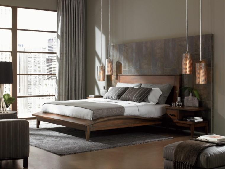 combinaison de couleurs foncées idées de chambre à coucher de gamme grise