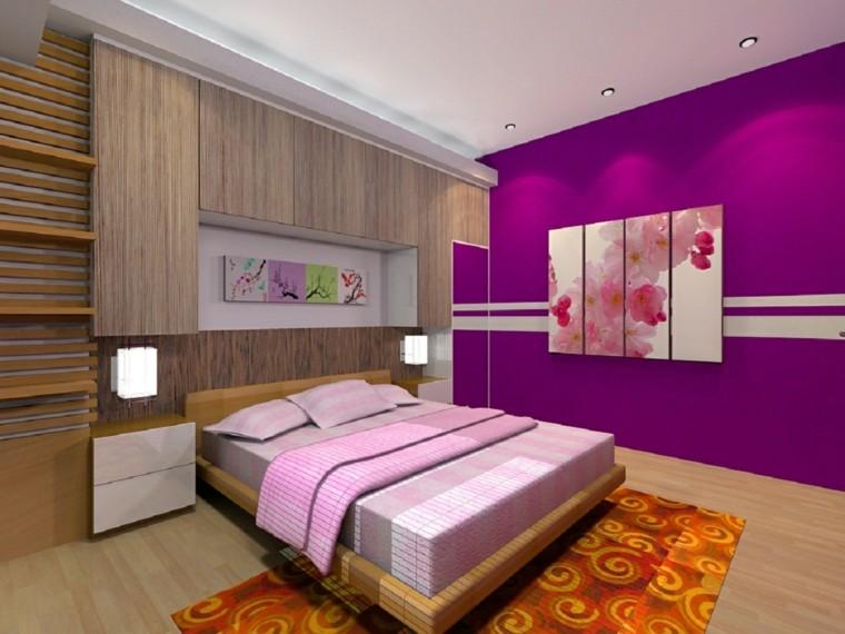 combinaison de couleurs mur chambre à coucher idées modernes