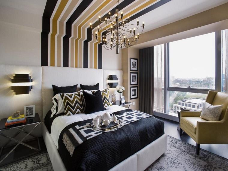 couleur de la chambre à coucher idées de mur divers sombre moderne