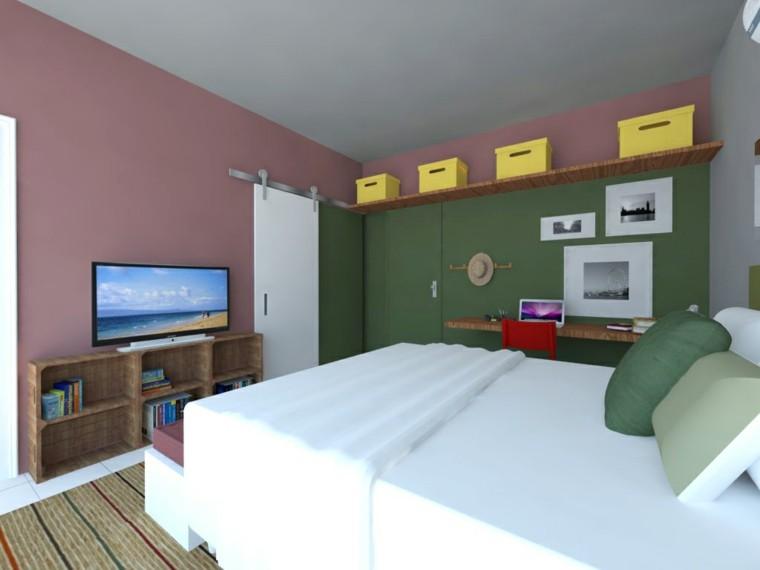 combinaison rose foncé vert petite chambre idées modernes