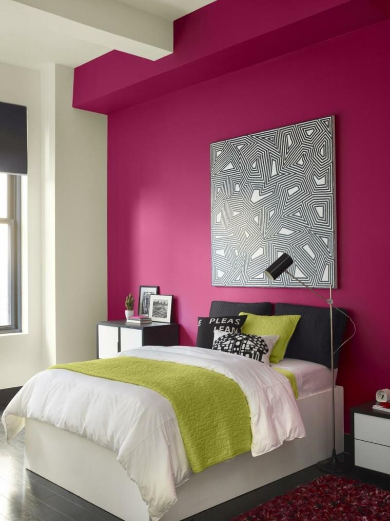 chambre petit lit rose blanc jolies idées