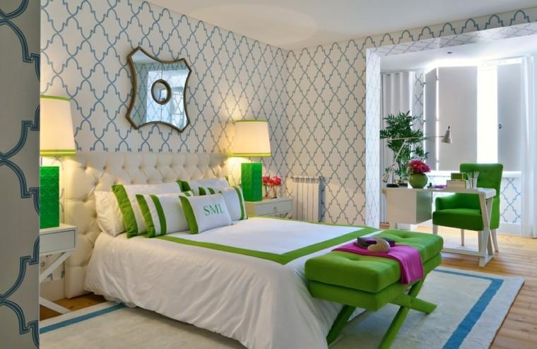 papier peint chambre à coucher figures géométriques idées modernes
