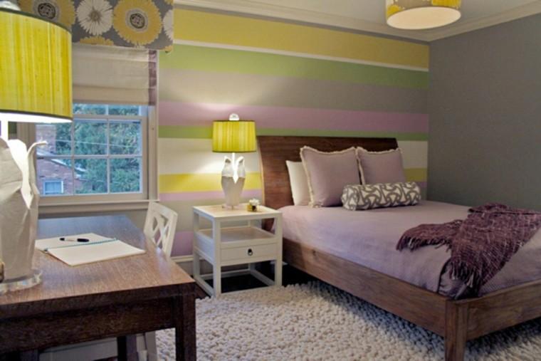 chambre à coucher diverses idées de rayures de couleurs vives