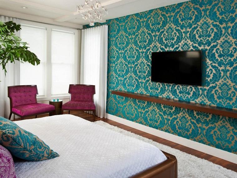 Idées contemporaines de chambre bleue de Rebecca Johnston