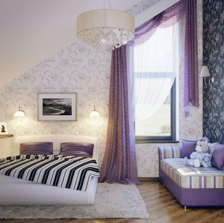 papier peint à motifs floraux idées de chambre à coucher modernes