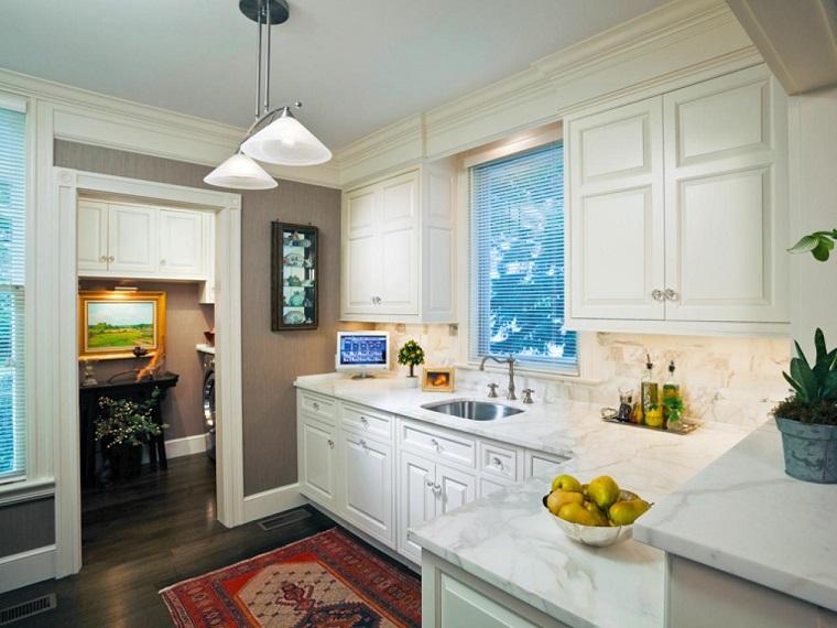 Idées de comptoir de comptoir en marbre de cuisine design simple