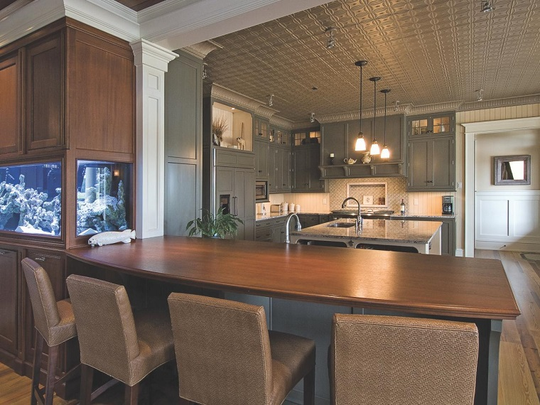 grand îlot de cuisine bar idées de comptoir en bois