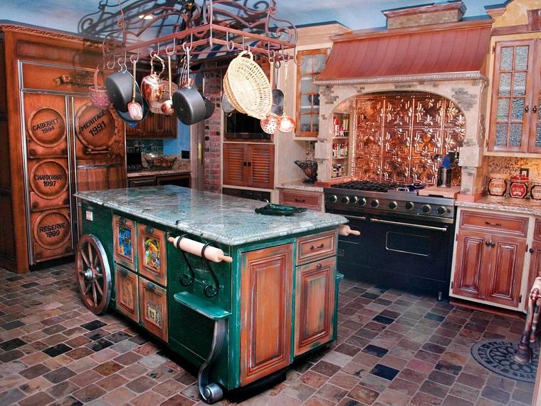 cuisine style rustique design original idées intéressantes