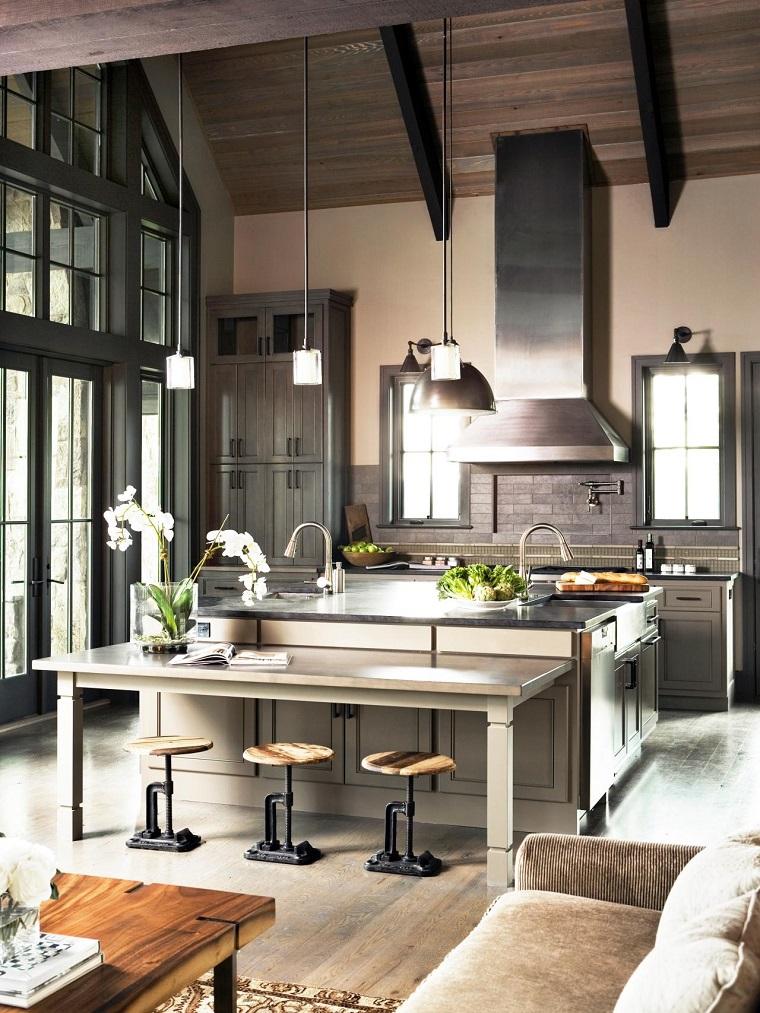 comment concevoir une cuisine contemporaine idées de style industriel urbain en acier moderne