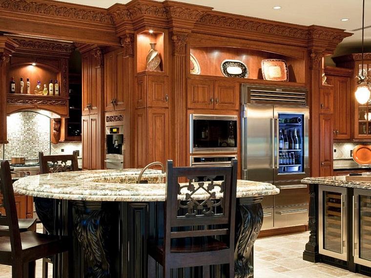 meubles de cuisine au plafond plan de travail en marbre idées de marbre