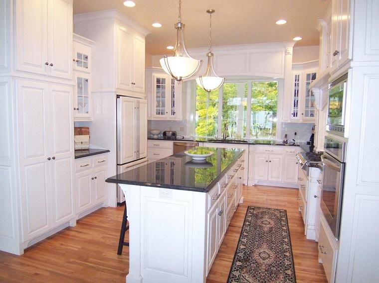 petite cuisine en marbre noir meubles de comptoir de sol plafond
