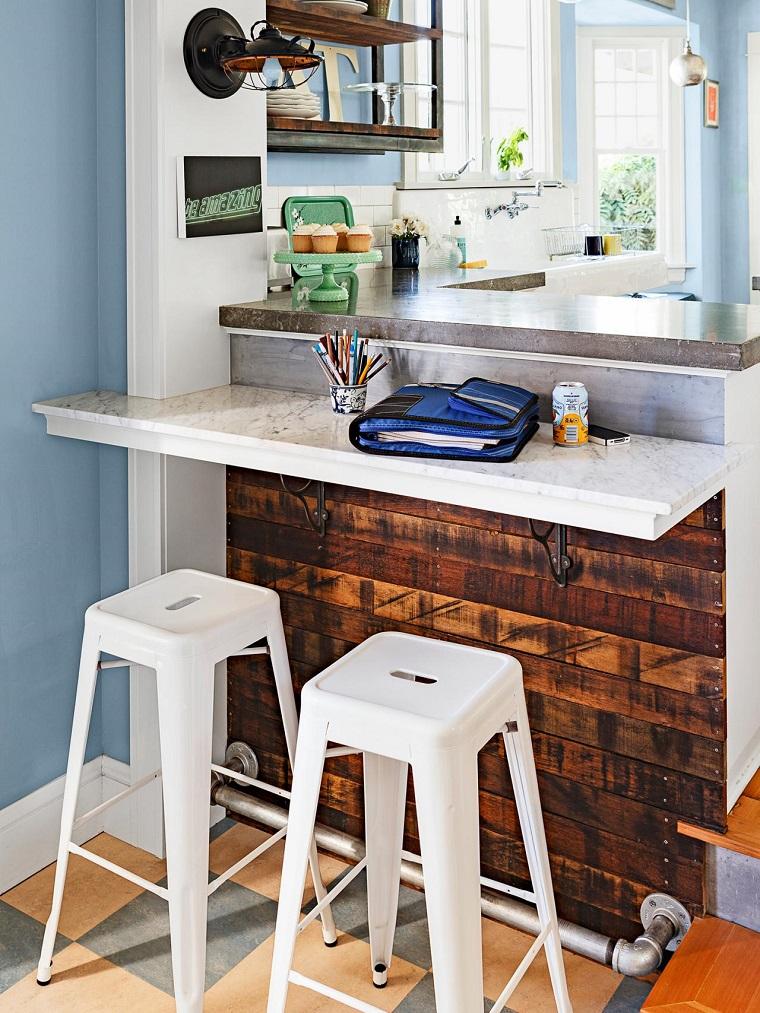 Comment concevoir une chaise de bar de cuisine en marbre