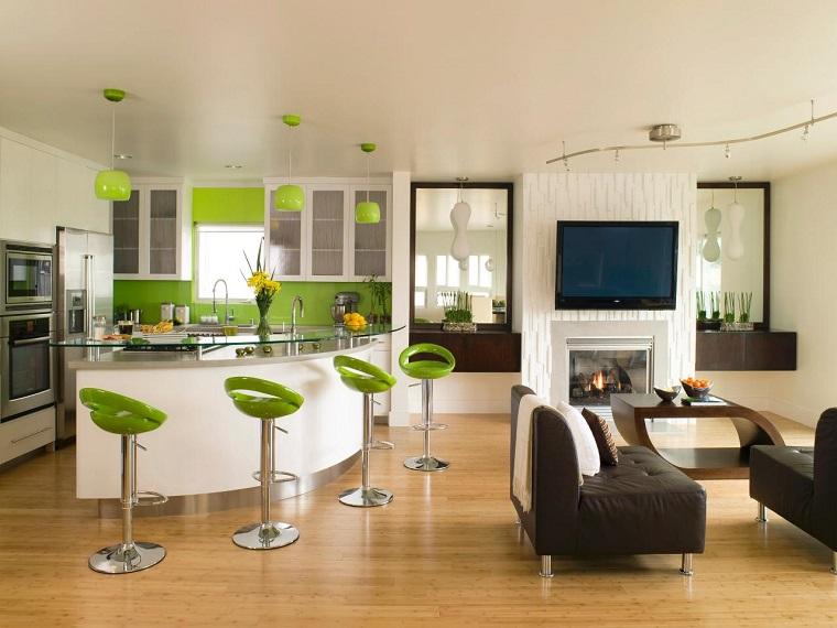 idées de comptoirs en verre de cuisines modernes de couleurs vives